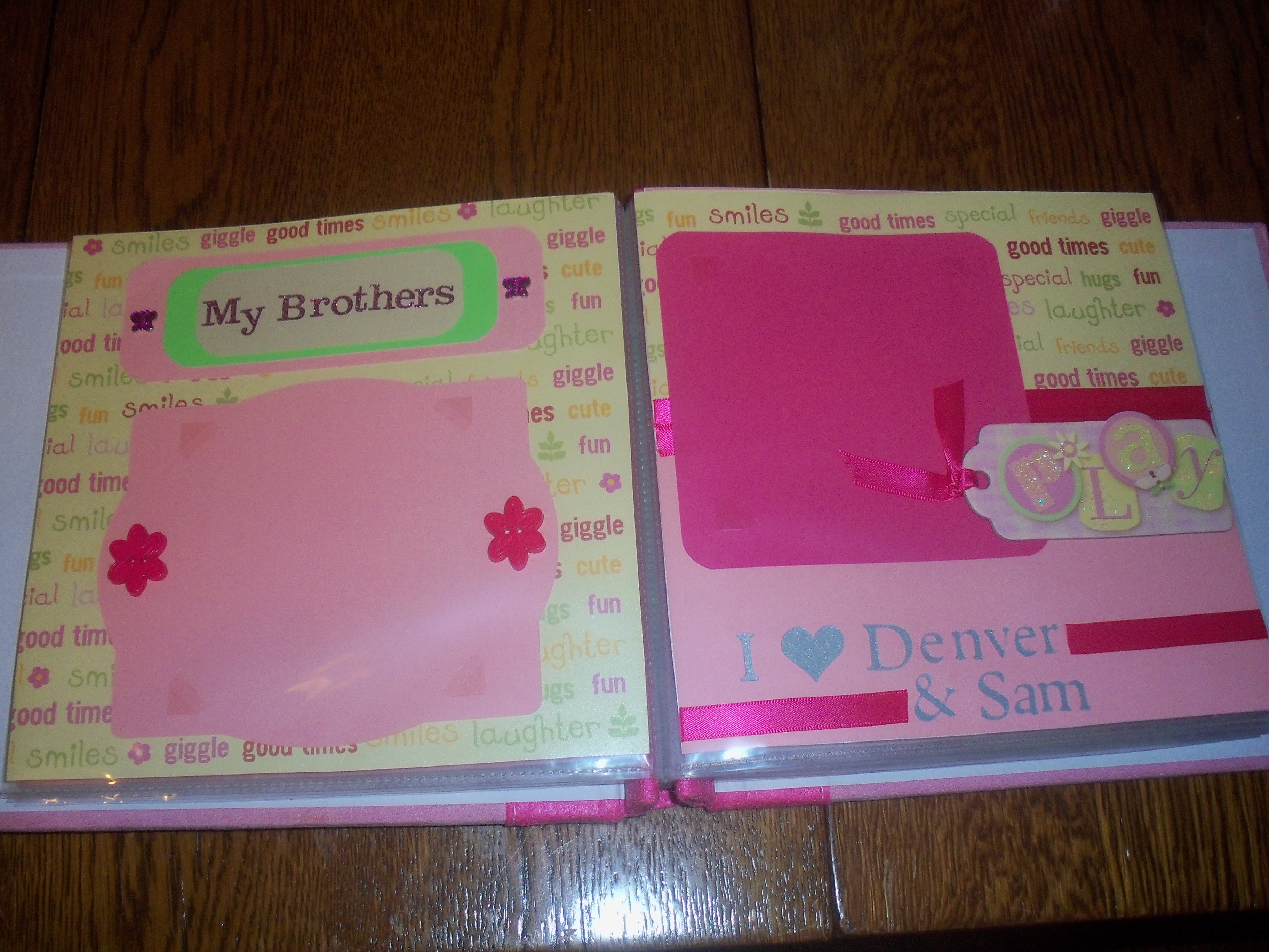 Scrapbook ideas for baby girl - Since The Scrapbook Was A Gift I Also Made A Personalized Card To Go With It